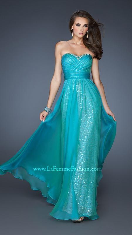 { 18869 | La Femme Fashion 2013 } La Femme Prom Dresses - Sequin Underlay - Sweetheart Strapless - Unique Gown