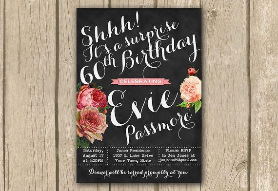 surprise party invitation, PRINTABLE surprise birthday ...