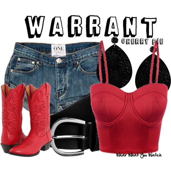 Inspired by model Bobbie Brown in the 1990 Warrant music video for Cherry Pie.