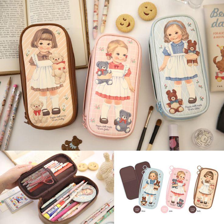 Afrocat Paper Doll Mate Better Beauty Pouch P Cosmetic Organizer Bag Pencil Case #Afrocat