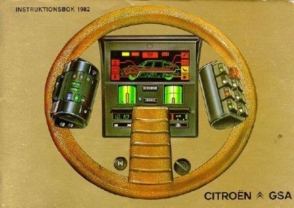 When Citroen did digital instrument packs... >Citroen Instruction Manual Cover