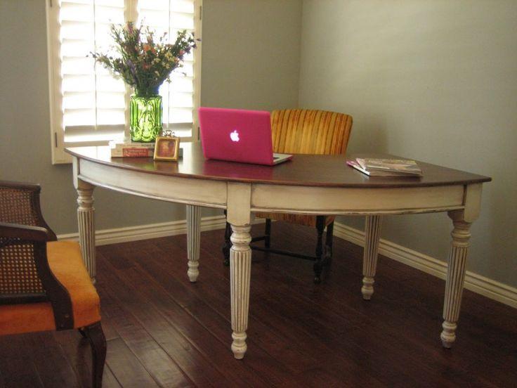 Furniture. Incredible Modern Curved Office Desk Ideas. European Style  Furniture Curved Office Desk Design