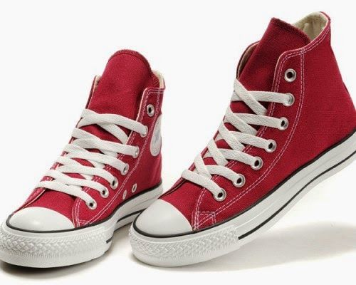 Converse Shoes Burgundy Chuck Taylor All Star Classic Womens/Mens Canvas  Sneakers High - Hellastyle Shop