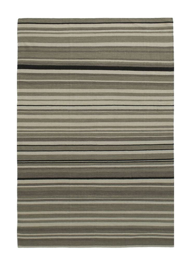 kelim - 1933 candy stripe - grey 4.00 x 3.00m  Composition Wool on Cotton Hand-woven Flat pile Was R25 920 - 50% Now R 11460
