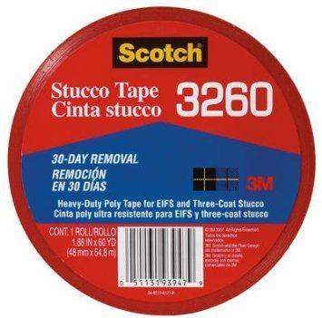 3M 3260-A 1.88″ X 60 Yards Scotch® Heavy-Duty Poly Stucco Tape Case of 12