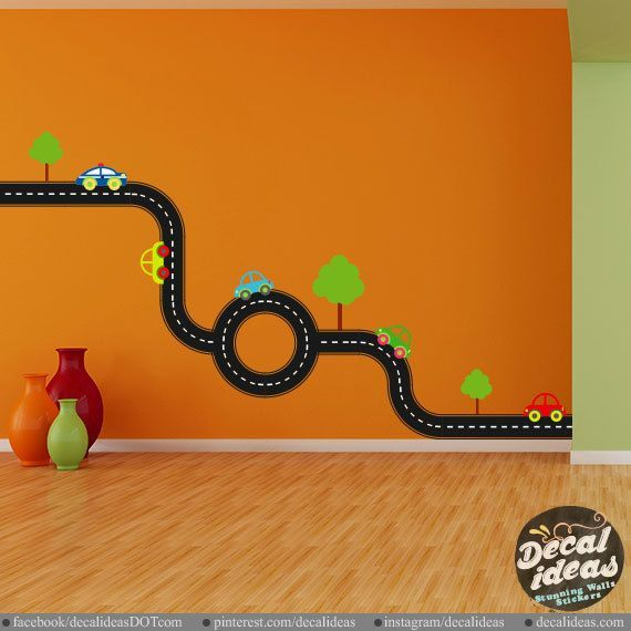 race car wall decals, tire tack wall decal, boys room decor, kids