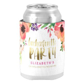 FLORAL BACHERLOTTE PARTY coozie Can Cooler