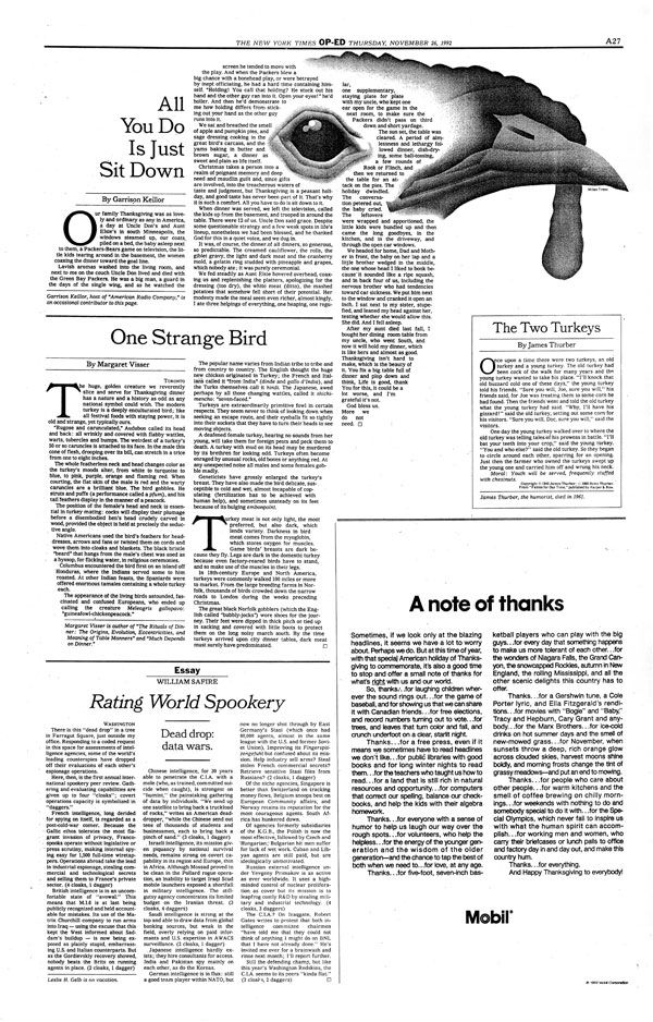 My design for the New York Times op-ed pages. November, 1992.
