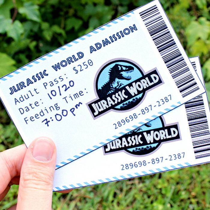 Fun invitations, activities and food ideas for the a date based on the Jurassic World movie! Have a DINO-MITE evening with this dinosaur date night!