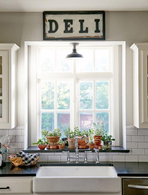 Southern Newlywed At Home With Cary And Ryan Ray Kitchen Window Sillkitchen Windowswindow Sill Decorwindow