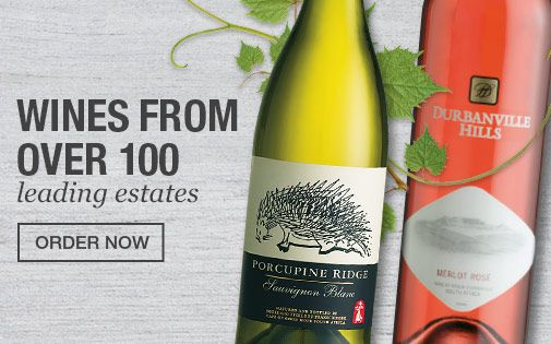 Wines from over 100 leading estates, available to order from Checkers