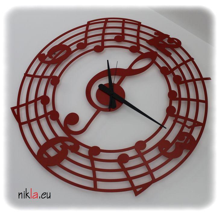 Orologio in ferro da parete di grandi dimensioni (diametro circa 80cm) NOTE By NIKLA STEEL DESIGN.Prodotto dal design moderno