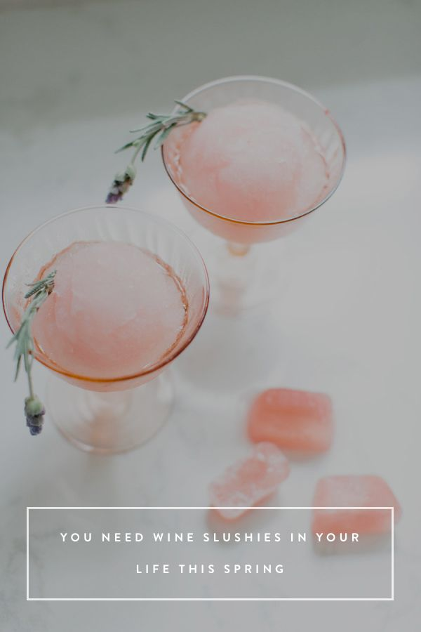 You Need Wine Slushies in Your Life This Spring via @PureWow