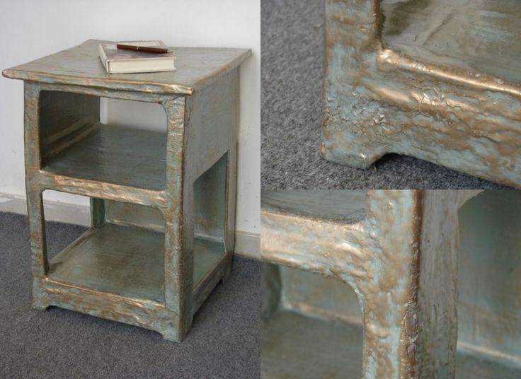 Kreative Möbel Selber Bauen  Pappmaschee Pappe Gold Farbe Diy Projekt