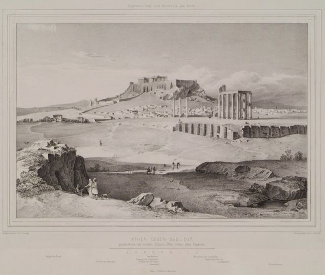 Athens from the feet of Ardittos Hill. - STADEMANN, August Ferdinand - TRAVELLERS' VIEWS - Places – Monuments – People Southeastern Europe – Eastern Mediterranean – Greece – Asia Minor – Southern Italy, 15th -20th century