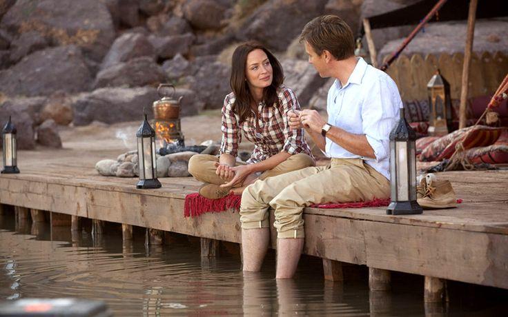 Salmon Fishing in the Yemen --Ewan Gordon McGregor  .  Emily Blunt -- 砂漠でサーモン・フィッシング -- 突拍子もない発想で現実的ではないかもしれませんが、こころが温まる映画だと思います。
