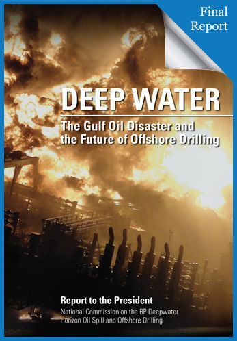 """On April 20, 2010, the Macondo well blew out, costing the lives of 11 men and beginning a catastrophe that sank the Deepwater Horizon drilling rig and spilled over 4 million barrels of crude oil into the Gulf of Mexico."" This week's government document of the week, Deep Water: The Gulf Oil Disaster and the Future of Offshore Drilling, is the official account of the terrible accident and its effect on the environment and economy of the region."