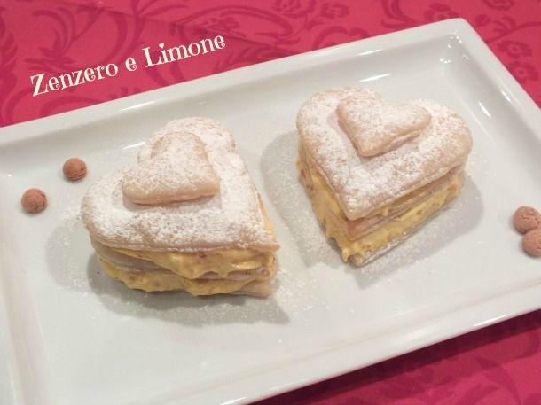 CUORI di PASTA SFOGLIA, dolcetti monoporzione di San Valentino