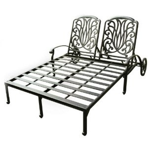darlee elisabeth double chaise lounge chair designed for two the darlee elisabeth double chaise lounge chair provides both of you with a