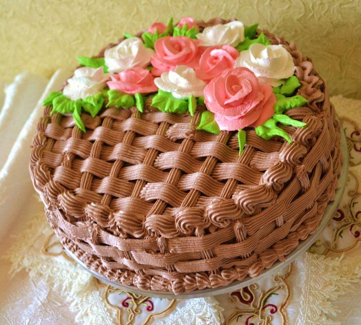 торт корзинка роз кремовый фото кальмары