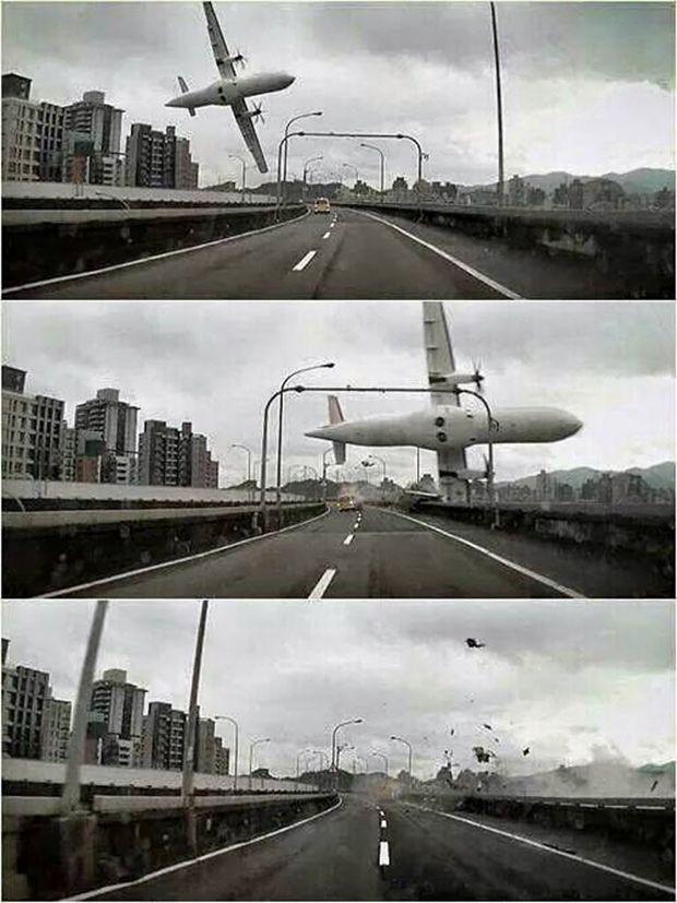 Avião da TransAsia com 58 a bordo faz manobra sobre viaduto antes de cair em rio em Taipé, capital de Taiwan