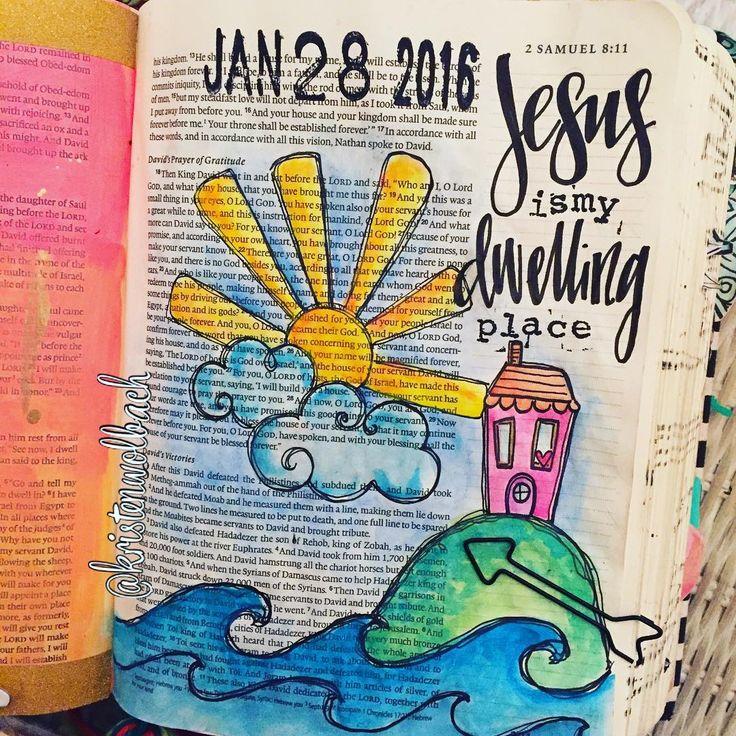 Bible Journaling by @kristenwolbach | 2 Samuel 7:11-13