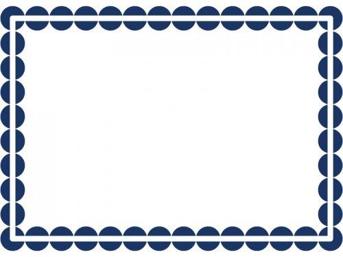 丸ドットのシンプルフレーム飾り枠イラスト02 スタンプ 枠 イラスト