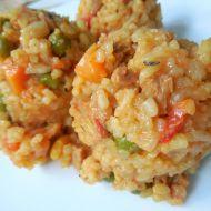 Ohnivá vegetariánská rýže