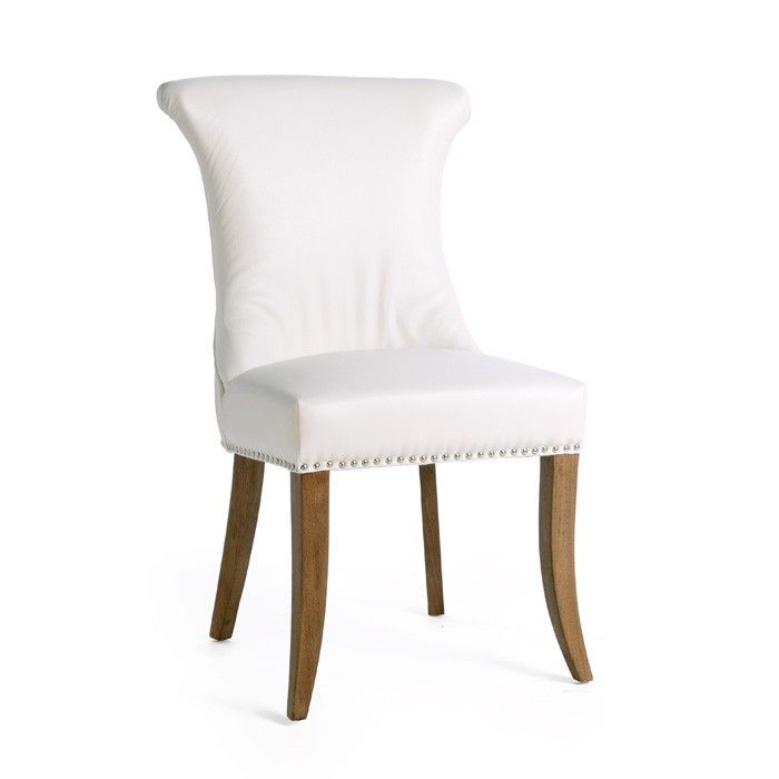 white leather alpine chair set of 2 alpine chair is really grabbed eyes features rich white leather clean lines are accented with silver nail heads