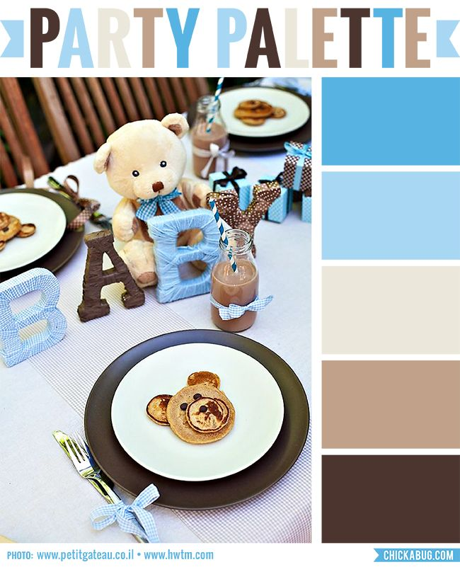 Party Palette: Teddy Bear Baby Shower