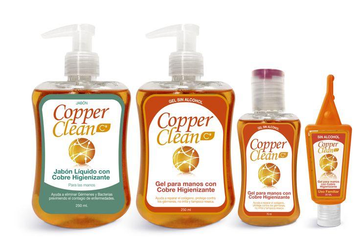 Geles, Jabones y Cremas productos innovadores desarrollados con partículas de cobre