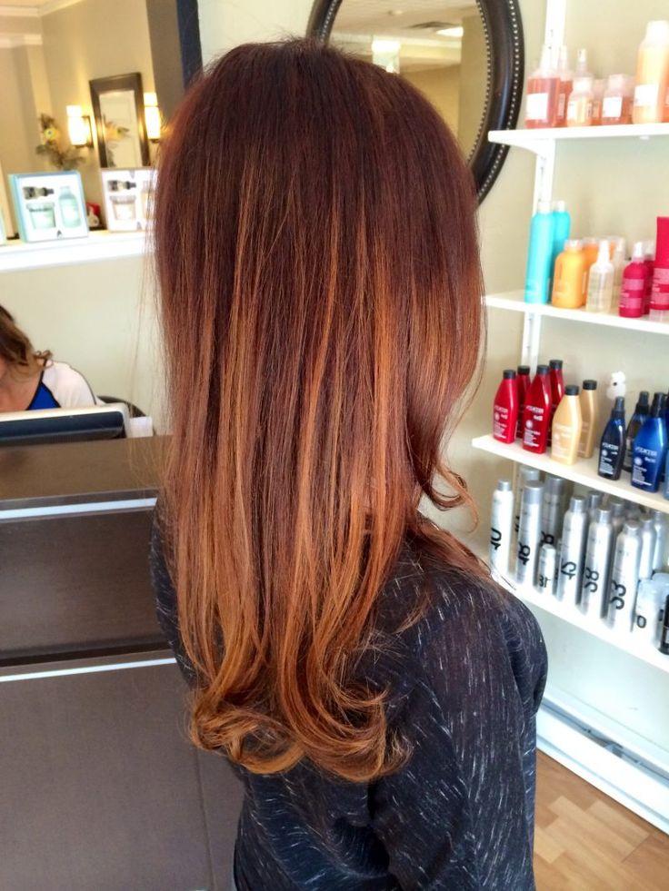 Die 25 besten ideen zu kupferbraun haarfarbe auf - Ombre hair haarfarbe ...