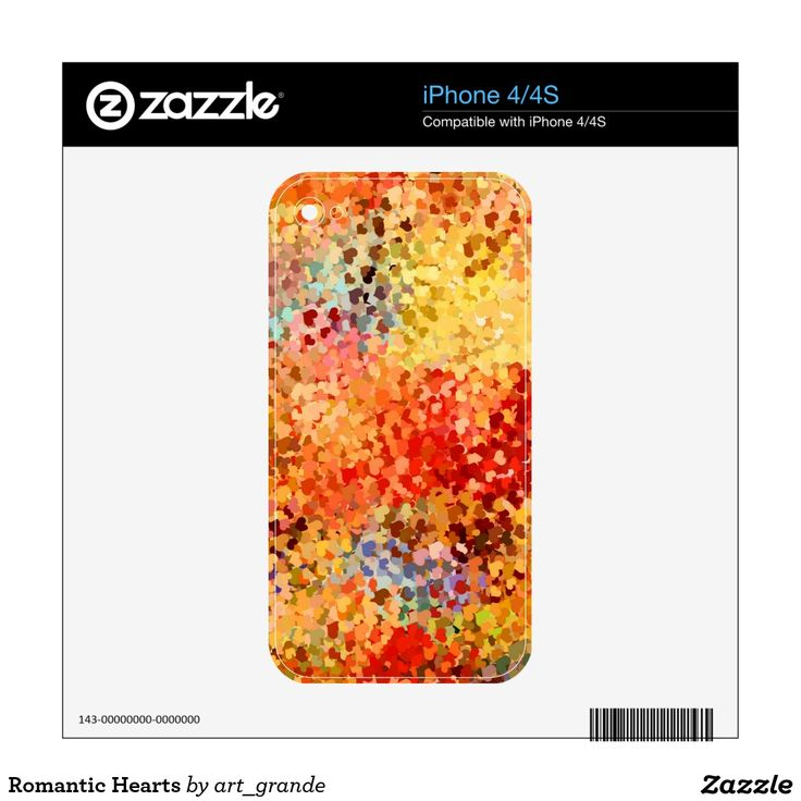 Romantic Hearts Decals For The iPhone 4