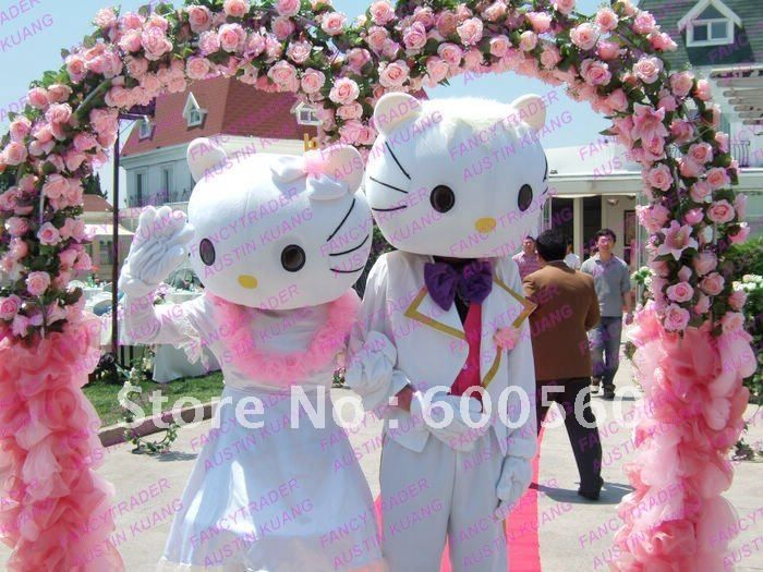 hello+kitty+costumes+for+4+y+o | la fiesta de boda hello kitty traje de la mascota de hello kitty ...