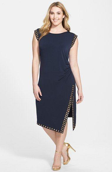 LDBD| Michael Kors a-symetrische jurk met studs