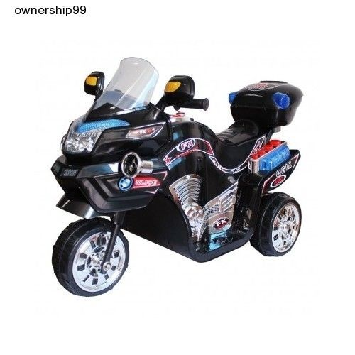 Kids Electric Bike Power Wheels Motorcycle Battery Powered Black Ride On New Toy #Lilrider