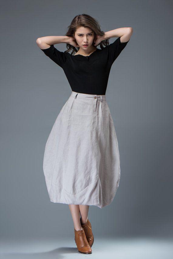 Light gray Skirt Women's Skirts Bud skirt C823 от YL1dress на Etsy