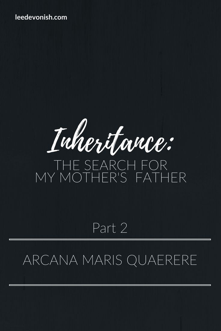 In part 2 of Inheritance: The Search For My Mother's Father, we investigate our only lead for decades, and discover the US Navy motto Arcana Maris Quaerere.