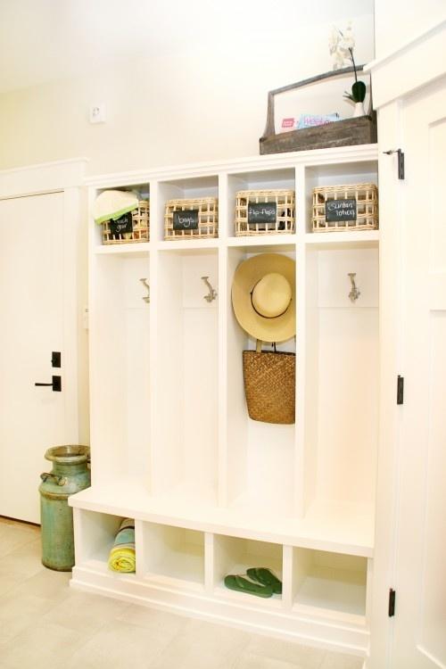 Shelf Above Hooks Bench With Shoe Storage Underneath