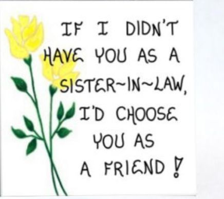 Sister in Law Gift Mag  Friendship Quote, brothers wife