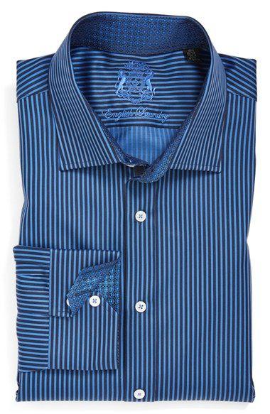 English Laundry Trim Fit Stripe Dress Shirt | NordstromPrep your autumn wardrobe. Shop English Laundry online at Nordstrom.com. #menswear #englishlaundry #nordstrom #nordstrommens #mensfashion #mensstyle #style #fashion #mens #officewear #fallfashion #fall #autumn