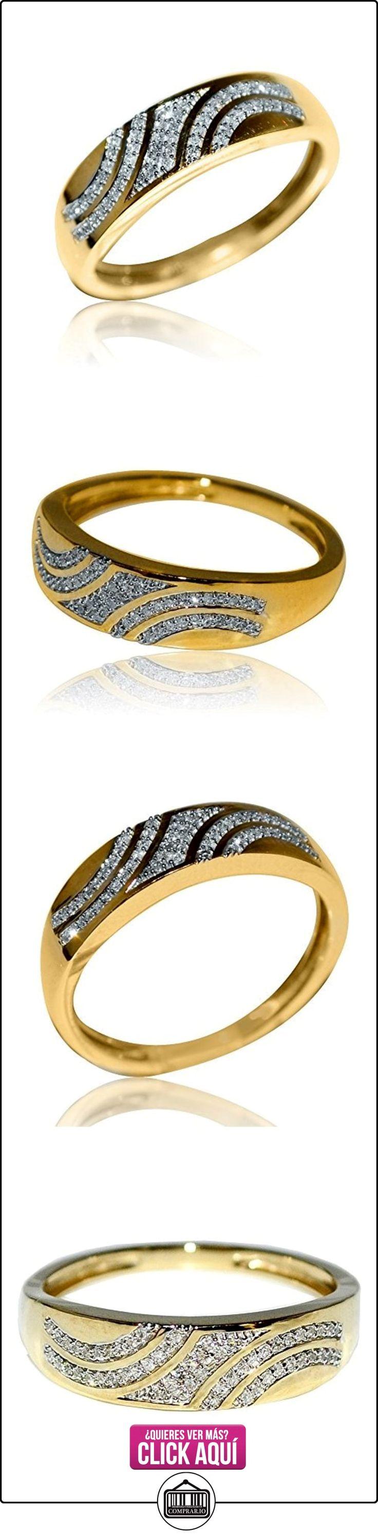 Midwest joyas hombre boda banda Anillos Pave oro amarillo de 10K 1/10cttw 5.5mm de ancho (I/J Color 0,1quilates)  ✿ Joyas para hombres especiales - lujo ✿ ▬► Ver oferta: https://comprar.io/goto/B00PUWPIB4
