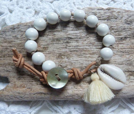 beachcomber gypsy mermaid bracelet  cowrie shell tassel bracelet by…