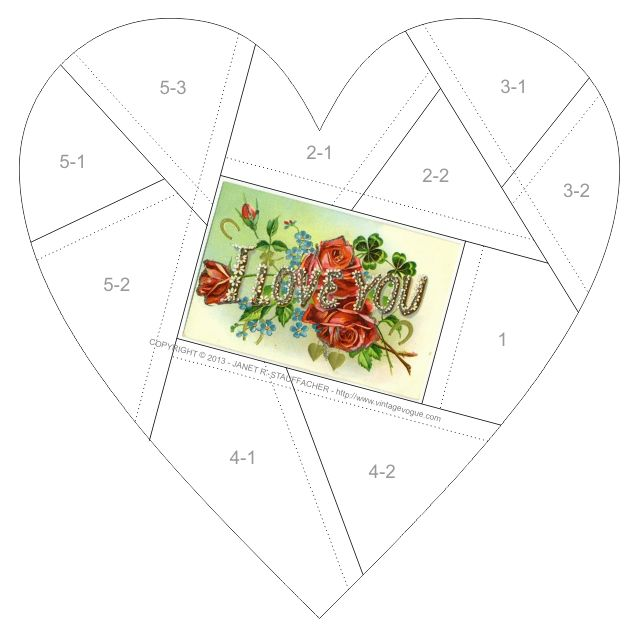 Nostalgic NeedleART: I Love You Crazy Quilt Block from Vintage Vogue