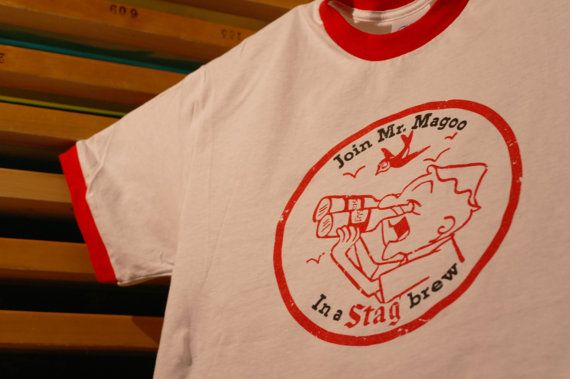 Vintage Stag Beer Mr Magoo TShirt  1958 by 107graphics on Etsy, $18.00