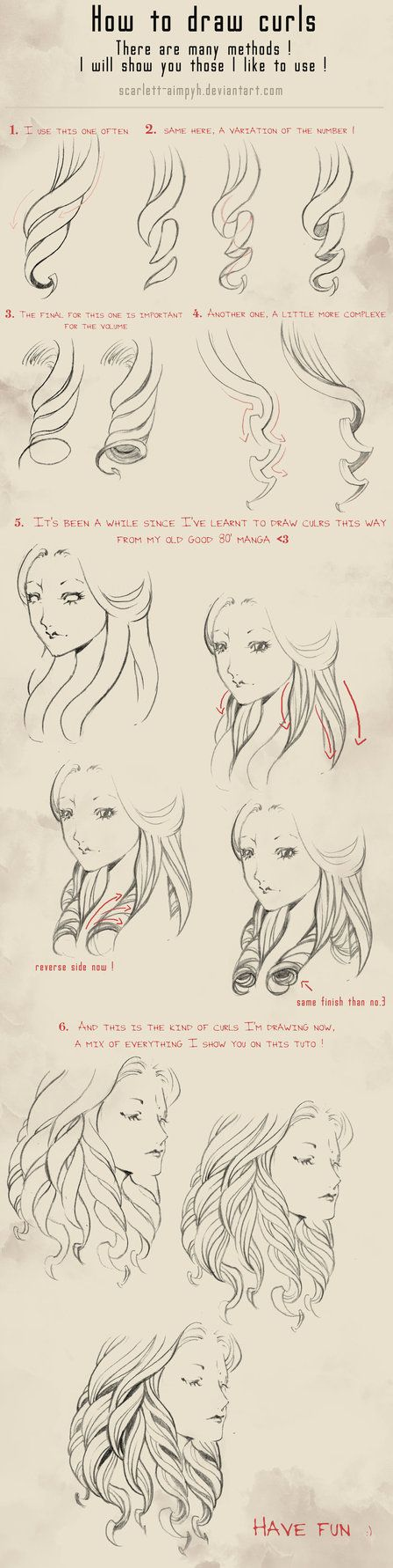 114 - How to draw curls by Scarlett-Aimpyh on deviantART ★ || CHARACTER DESIGN REFERENCES™ (https://www.facebook.com/CharacterDesignReferences & https://www.pinterest.com/characterdesigh) • Love Character Design? Join the #CDChallenge (link→ https://www.facebook.com/groups/CharacterDesignChallenge) Share your unique vision of a theme, promote your art in a community of over 50.000 artists! || ★
