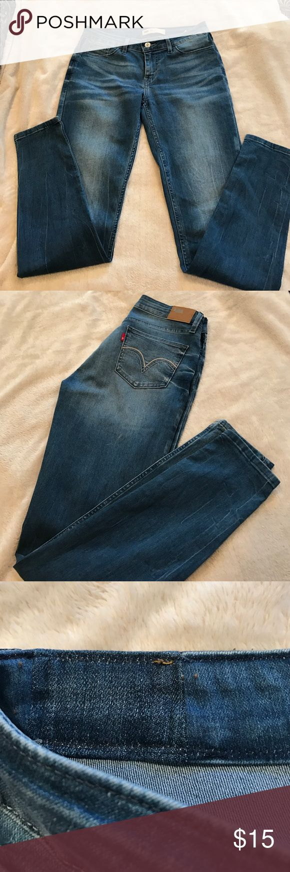 Levi's jeans ❤️👌🏻 SALE 🔥‼️🔥🛍🛍🛍🔥‼️🔥 Skinny faded wash ..they have been altered as shown in picture..totally unnoticeable 👌🏻 size reads 29 .i had inch added and they are now size 30 waist !! Perfect shape 💙💙 Levi's Pants Skinny