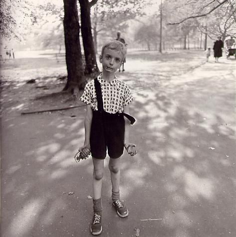 Diane Arbus~Child with a toy hand grenade in Central Park,N.Y.C.1962