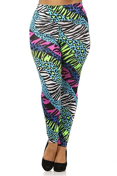 a7d3db6ae8f0 Zooropa Plus Size seems to be a multitude of disasters in the leggings  department
