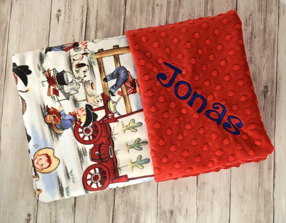 198 best baby gifts moonbeam minky images on pinterest monogrammed baby blanket minky buckaroo cowboy print tan taupe blue red beige personalized blanket with name newborn retro western negle Choice Image